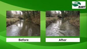 Before and after: habitat enhancement works on the River Marden